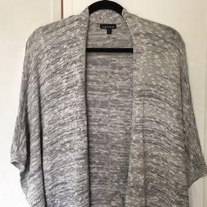 Top shop cotton knit cocoon cardigan grey marl.